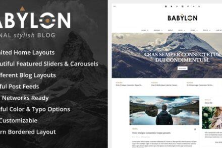 babylon personal stylish wp blog by uncommons 601de74711cff