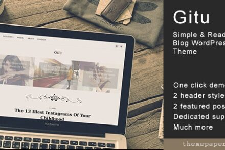 gitu simple readable blog wordpress theme by 601de0ede602a