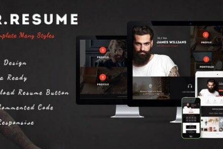 morgan resume vcard personal profile and portfolio wp theme by fluent themes 601de13d49ffd