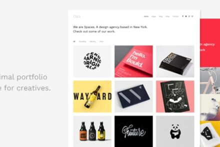 ozo minimal portfolio wordpress theme by cadengrant 601a0462d18a0