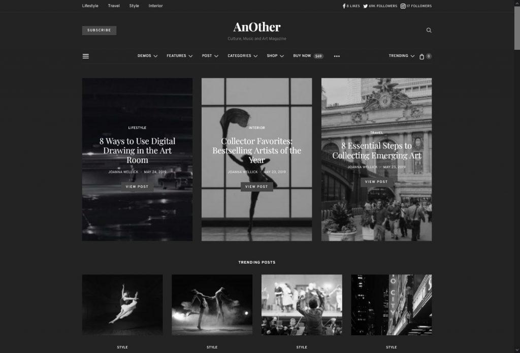 Black and White WordPress Themes