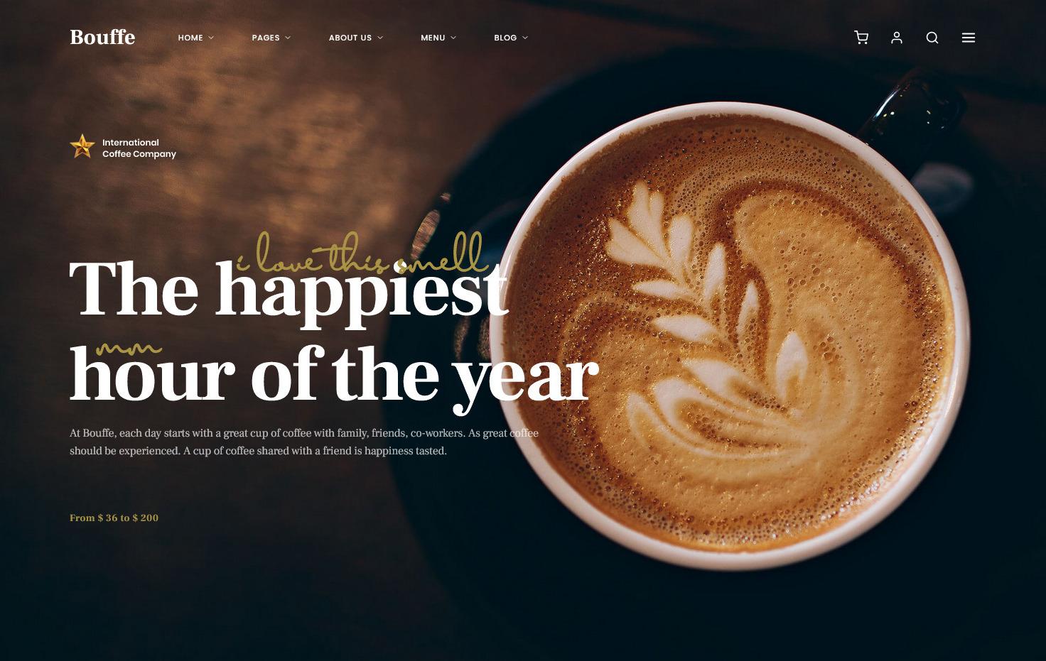 Bouffe Coffee Shop WordPress Theme