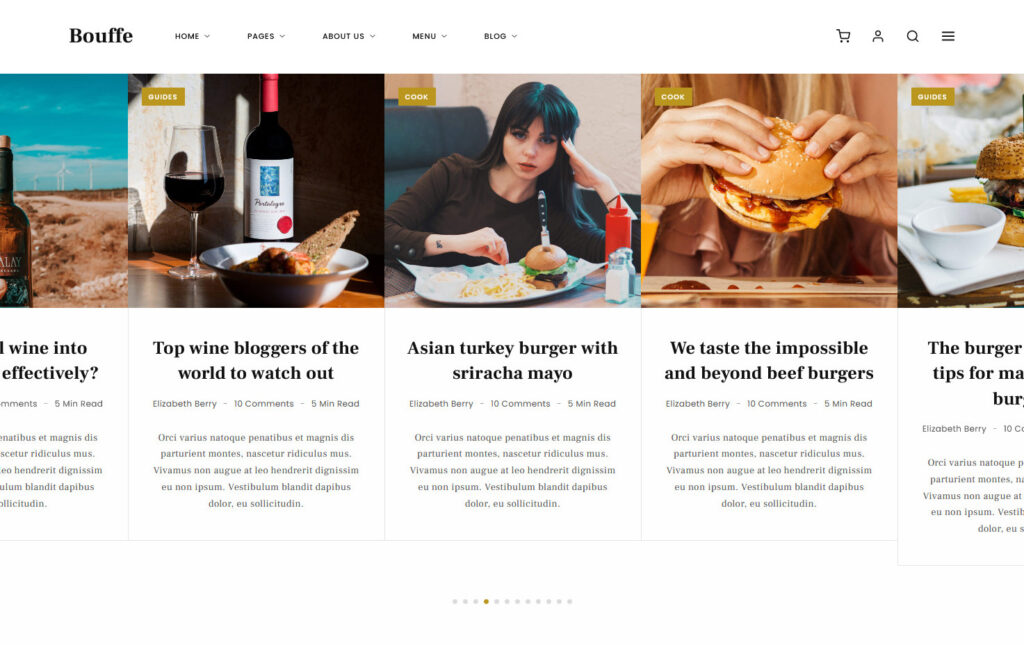 Bouffe Food Blog and Magazine Theme