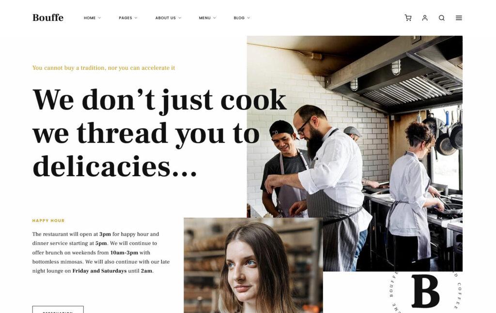 Bouffe Restaurant Cafe WordPress Theme