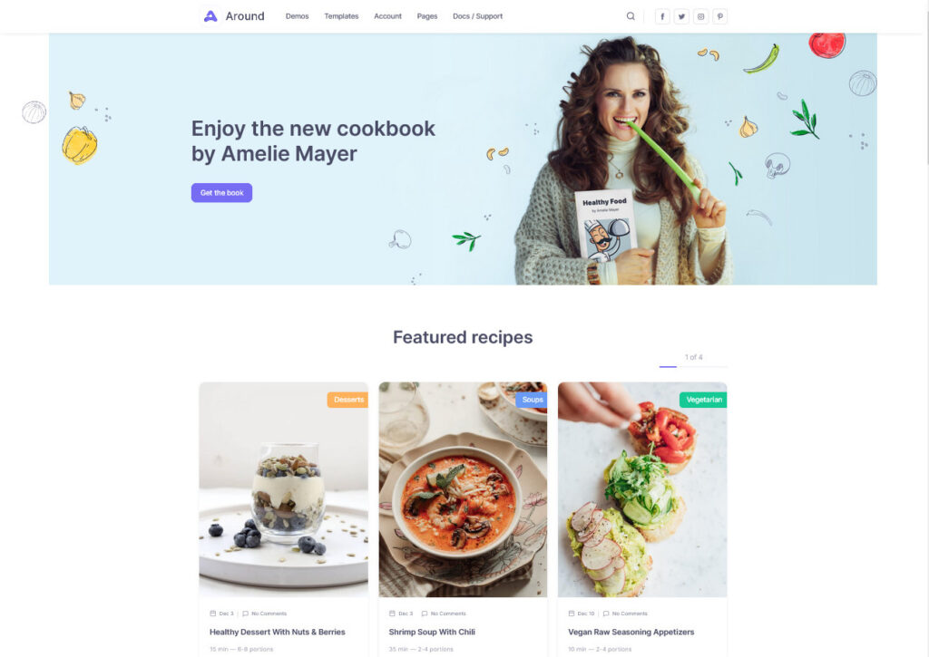 Food Blog Around WordPress Theme
