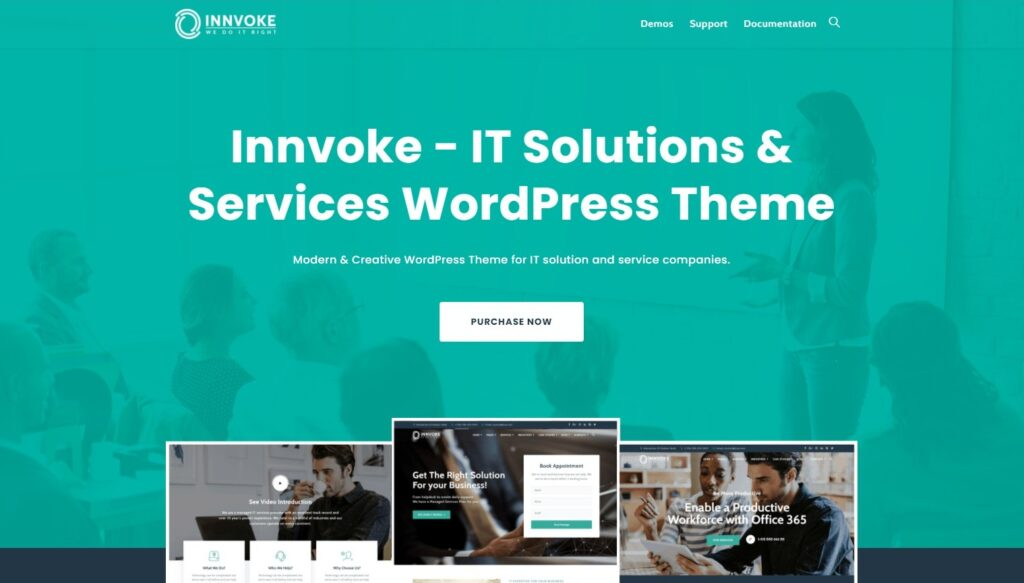 Innvoke IT Solutions Services WordPress Theme Preview ThemeForest