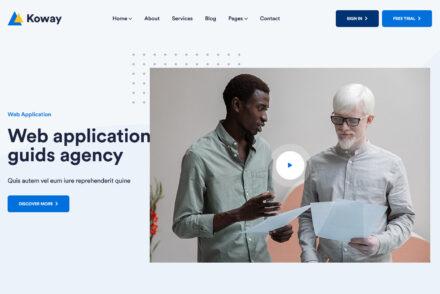 Koway Saas Software Landing Page WordPress Theme