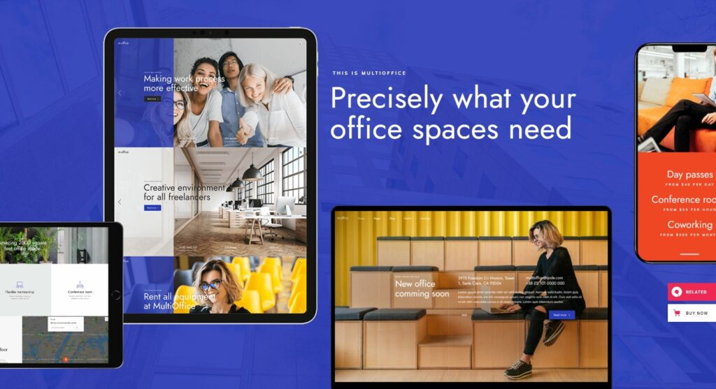 MultiOffice Coworking Space Theme