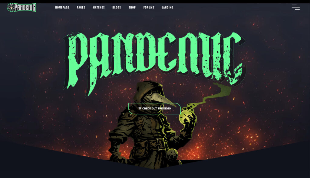 Pandemic WordPress Gaming Theme