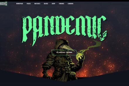 Pandemic WordPress Gaming Theme