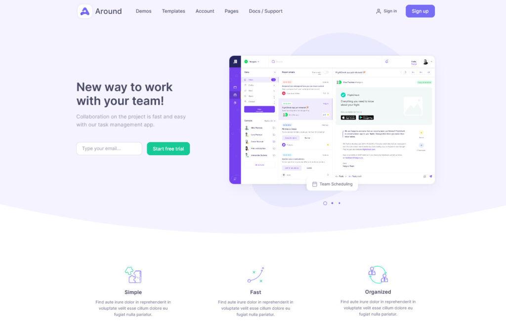 Product Landing Software Around WordPress Theme