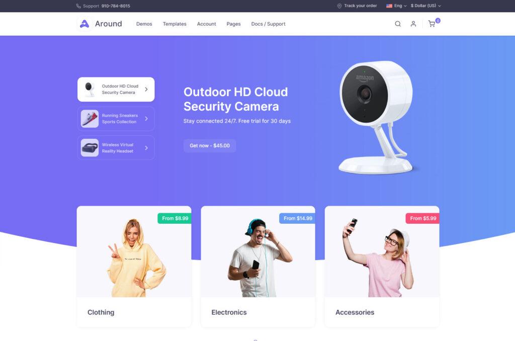 Shop Homepage – Around Multipurpose Business Theme