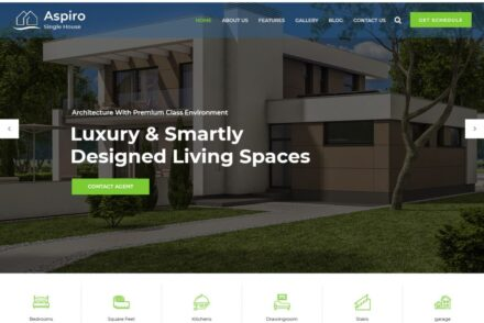 Single Property Real Estate WordPress Themes