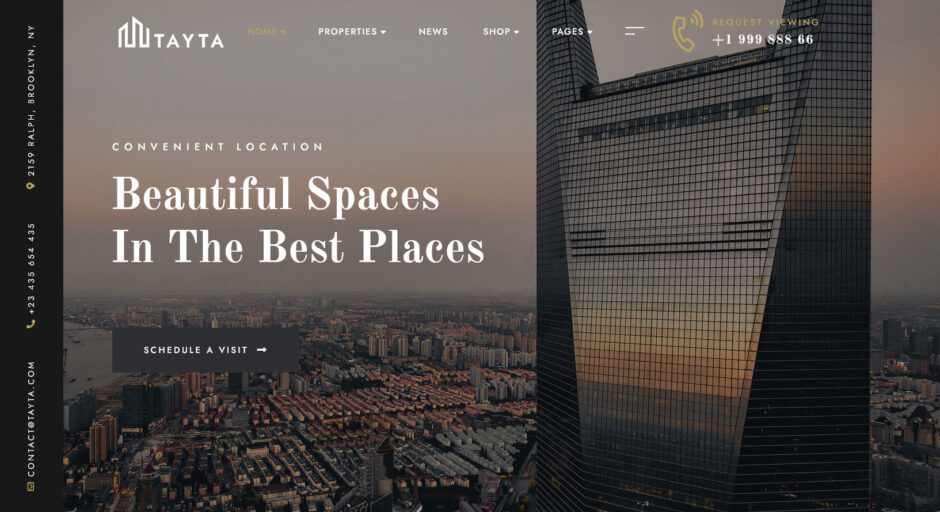 TAYTA Single Property WordPress Real Estate Theme