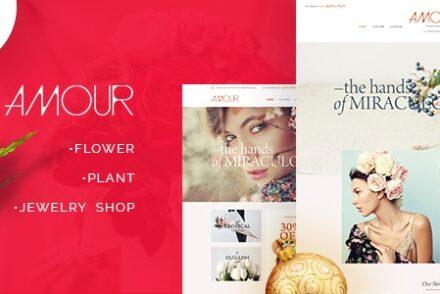 amour shop wordpress theme flower jewelry handmade gift by beautheme 6042b9bb56be8