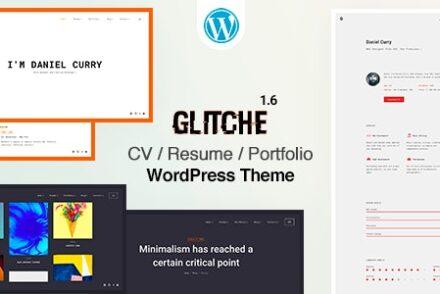 glitche cv resume wordpress theme by beshleyua 604187d944c8d