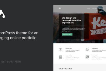 meth a minimal one page portfolio theme by codestag 6041dff111926