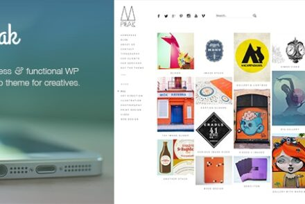 peak a popular and exquisitely made responsive wordpress portfolio theme with a sidebar menu by onioneye 6041e01897287