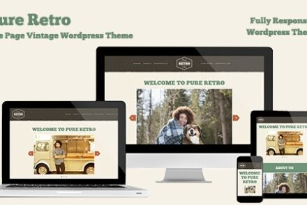 retro portfolio pure one page vintage wordpress theme by scottmoses 60428f5aed3f5