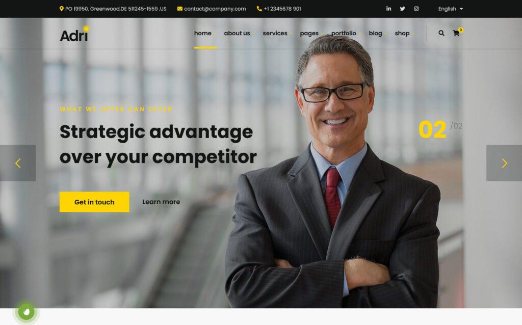 Adri Demo – Impact – Business and Consulting – Multipurpose WordPress Theme