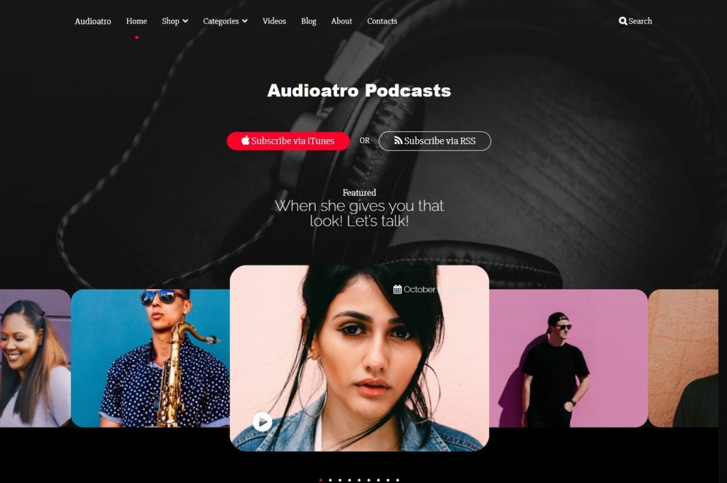 Audioatro WordPress Audio Podcasting Music Theme