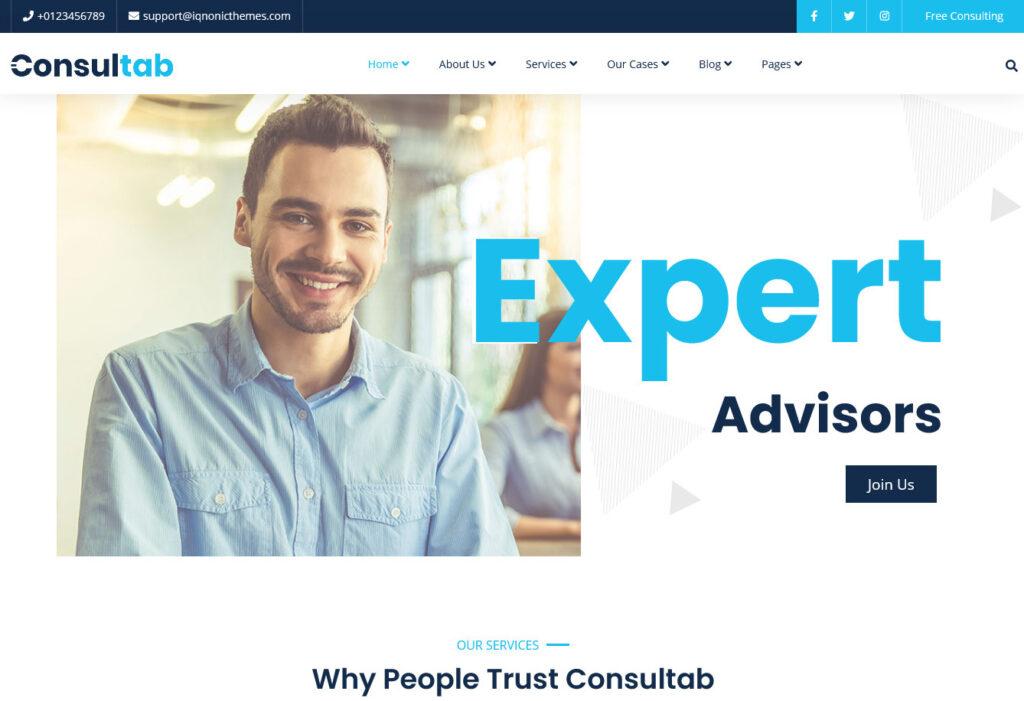 Consultab Elementor Powered Accounting WordPress Theme