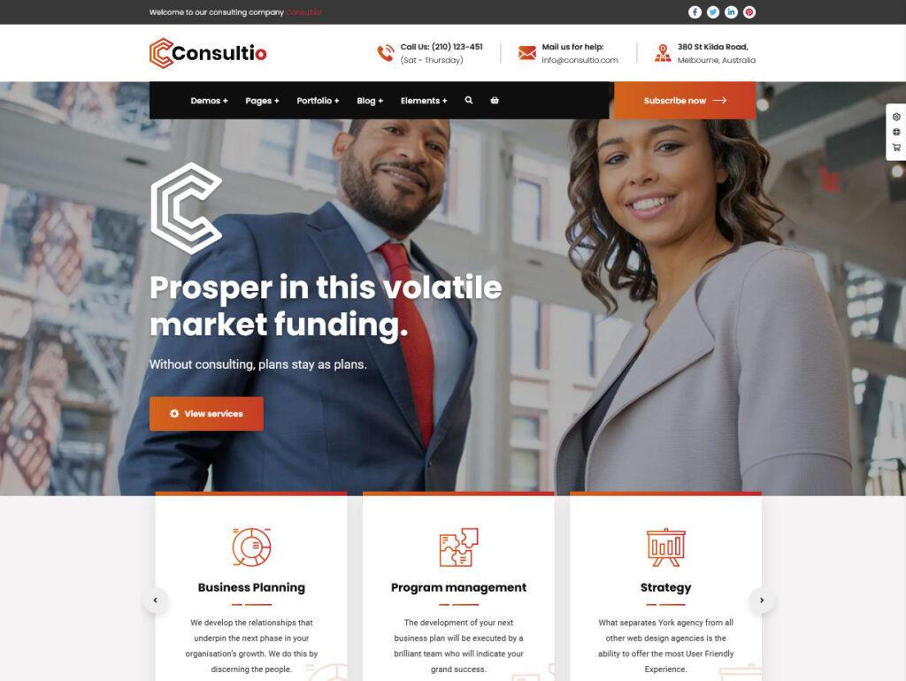 Consultio Consulting Finance WordPress Theme