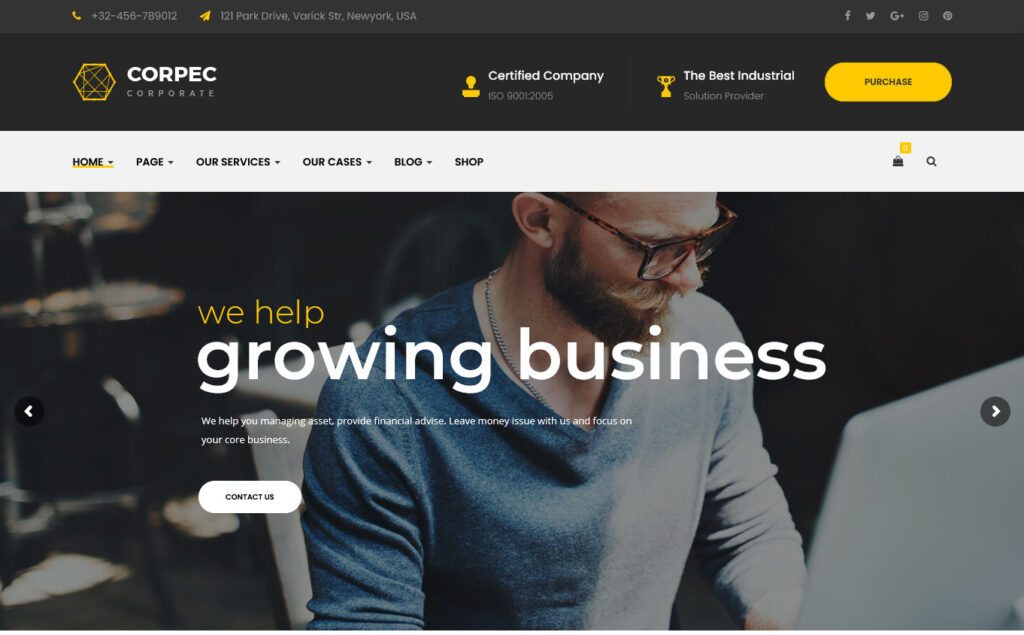 Corpec – Responsive WordPress Theme for Accounting Firms