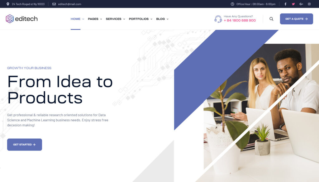 Editech Corporate Business WordPress Theme
