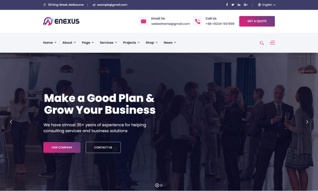 Enexus Tax Consulting Business Elementor WordPress Theme
