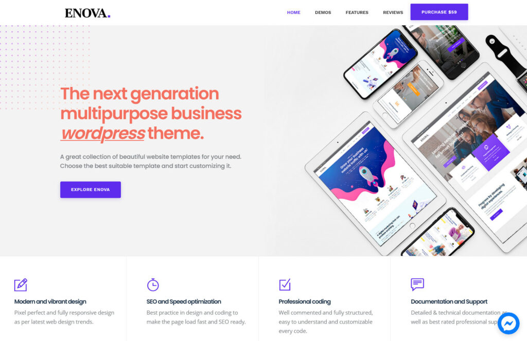 Enova Accounting and Multipurpose Business WordPress Theme