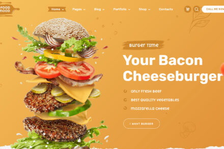 Foodmood Fast Food Restaurant WordPress Theme