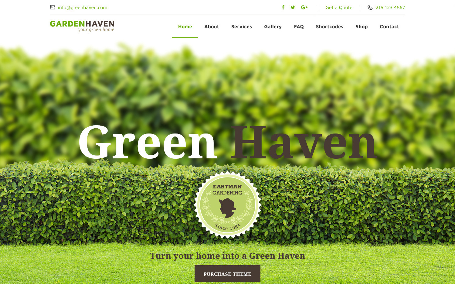 Garden Haven WordPress Theme for Gardeners