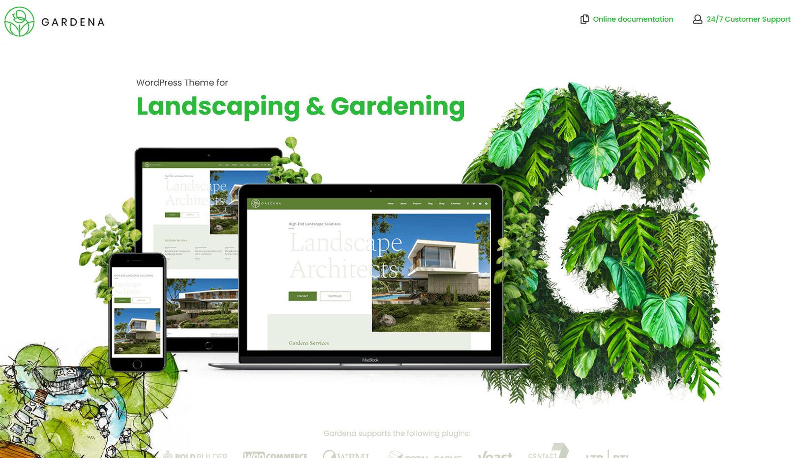 Gardena – WordPress Theme for Gardening and Landscaping
