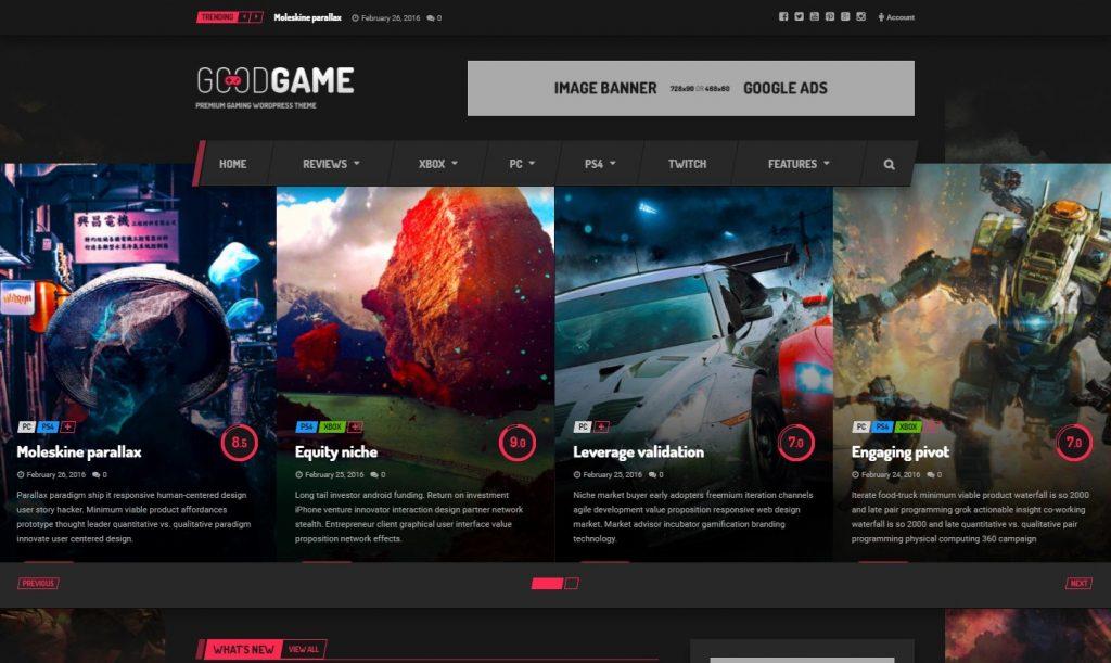 GoodGame Twitch Integrated WordPress Gaming News Magazine