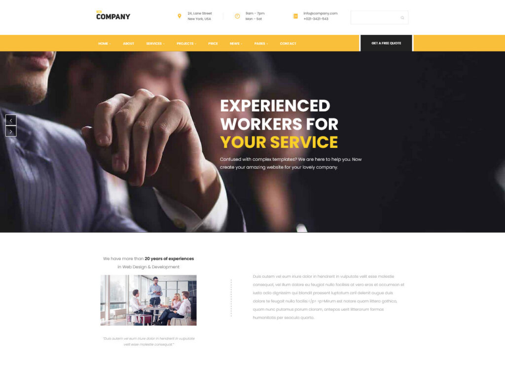 Home Business – The Company Accounting and General Business Theme