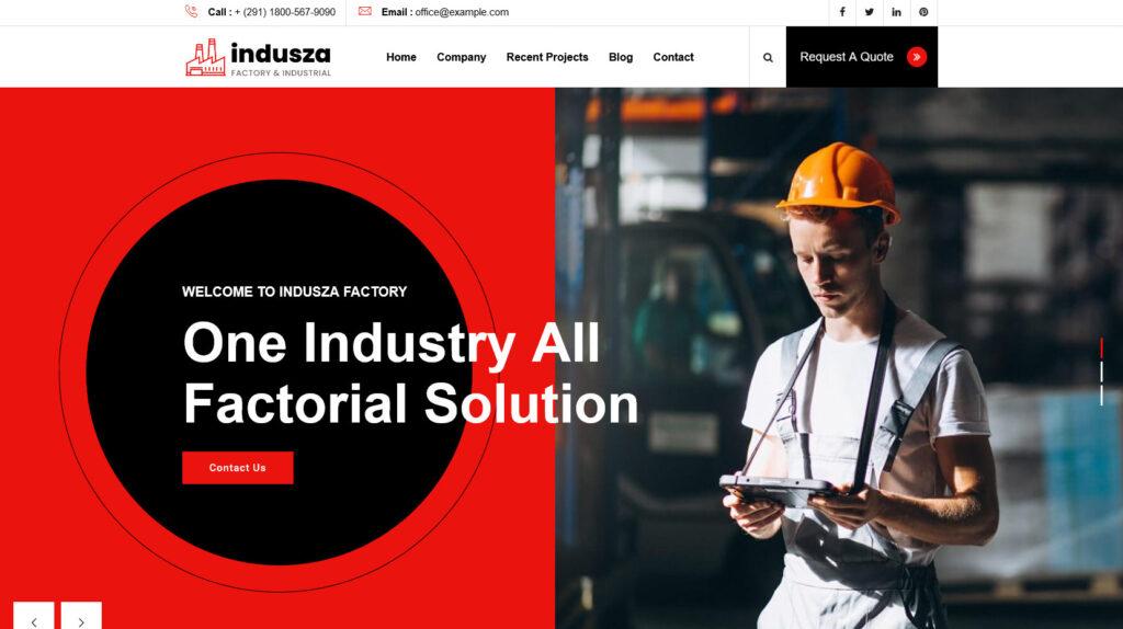 Indusza Industrial Factory WordPress