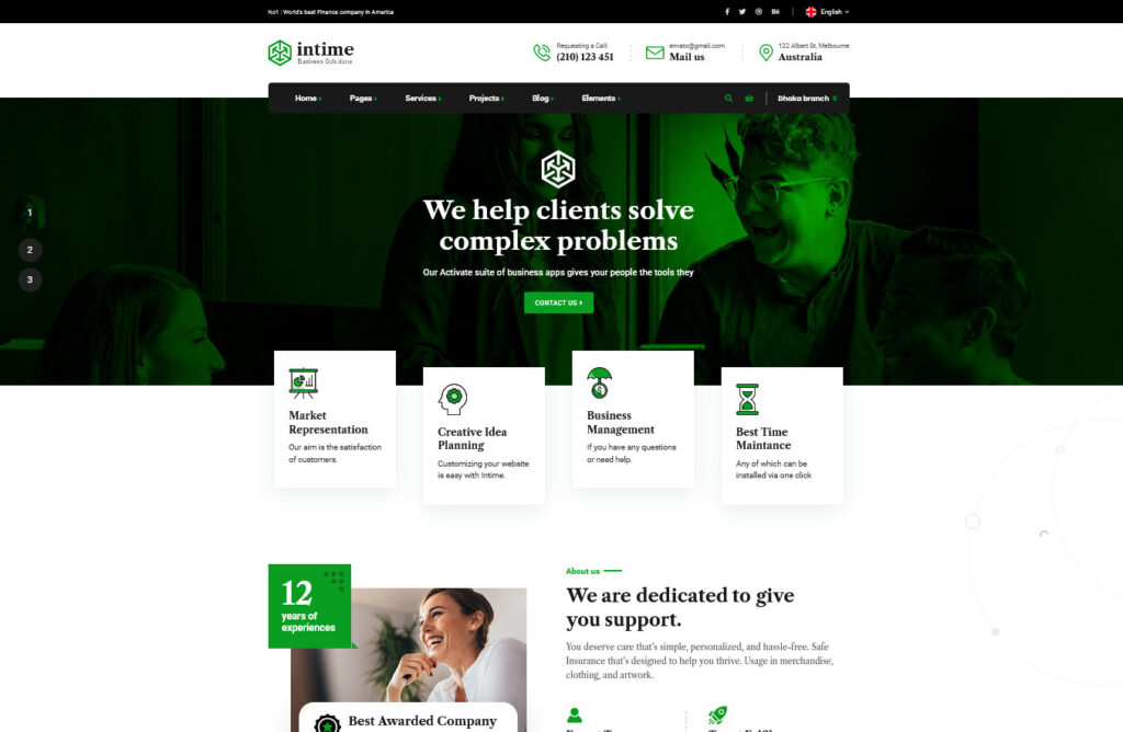 Intime Accounting Business WordPress Theme