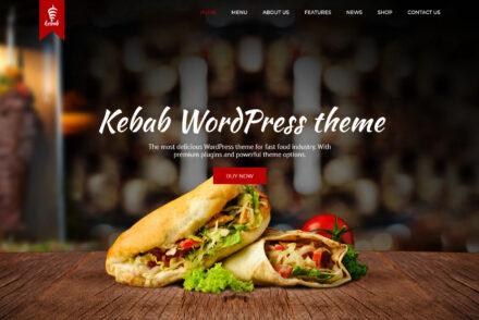 Kebab Restaurant and Fast Food WordPress Theme