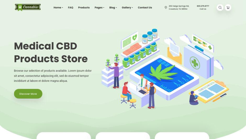 Marijuana Dispensary WordPress Themes