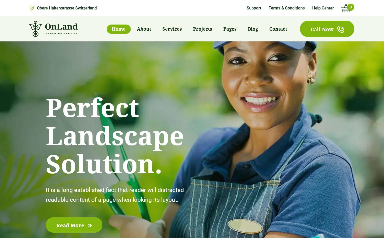 OnLand Best Gardening WordPress Themes