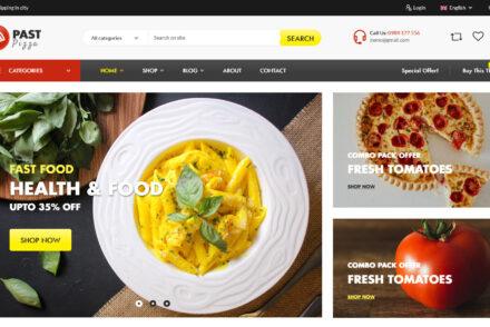 Past Expensive Fast Food WordPress Theme