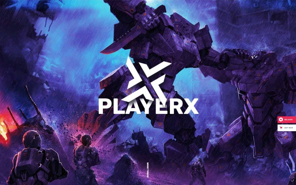 PlayerX A High powered Theme for Gaming and eSports