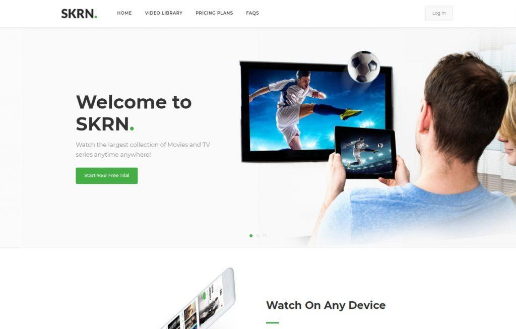 SKRN Media Streaming App WordPress Theme Preview