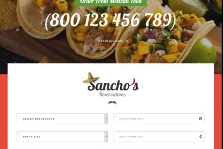 Sanchos Mexican Restaurant WordPress Theme