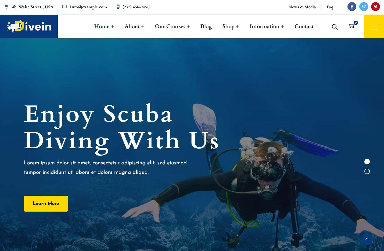 Scuba Diving Surfing – WordPress Theme