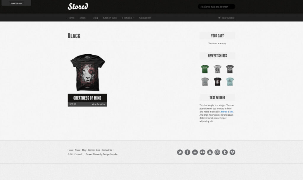 Stored T Shirt Shop WordPress Theme