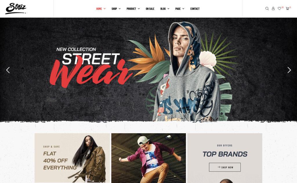 Striz Tee Shirt Shop WordPress Theme