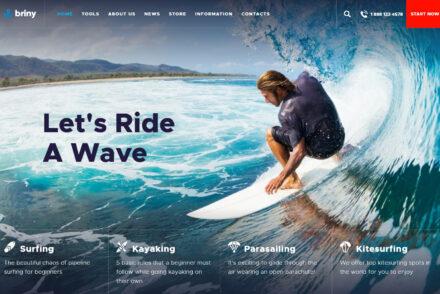 Surf Shop WordPress Theme