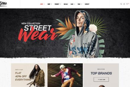 T Shirt Store WordPress Themes